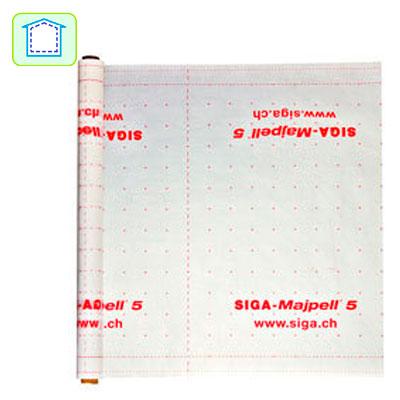 Datos técnicos Majpel® 5: 1,5 m Longitud: 50 m Ancho: 1,5 m Rollo: 75 m² Peso: 11 kg Embalaje: 30 Rollos/Pallet Material: PO-capa reforzada con fibras de PP Grosor: 0,3 mm Valor sd: 5 m Estándar: CE DIN EN 13984: 2005-02, Tipo A Resistente a los rayos UV: 12 semanas Resistencia a la temperatura: – 40° C a +100° C. Datos técnicos Majpel® 5: 3 m Longitud/roll: 50 m Ancho: 3 m Rollo: 150 m² Peso: 22 kg