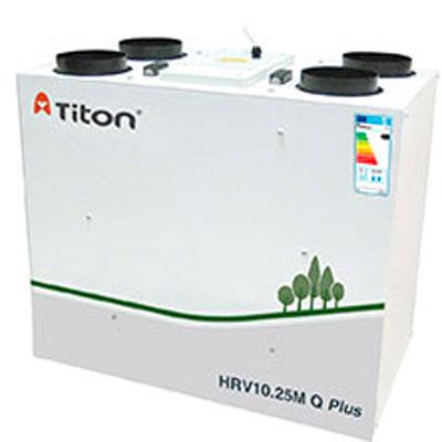 ventilacion mecanica con recuperador de calor titon Hrv 10.25m q plus b eco